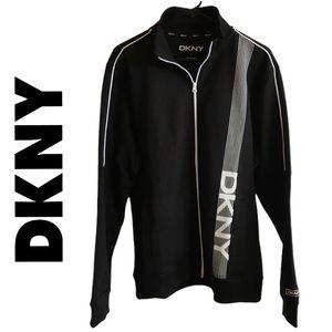 DKNY Black Premium Zip Up Sweater Size Large